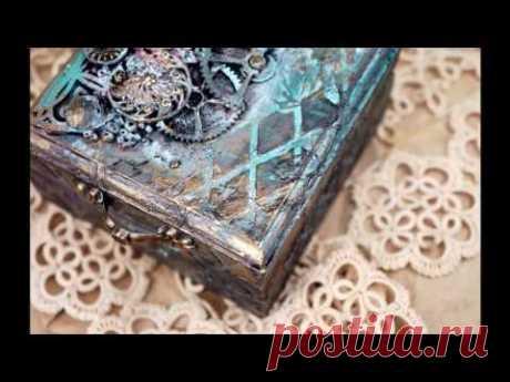 Пошаговый процесс декорирования шкатулки - YouTube