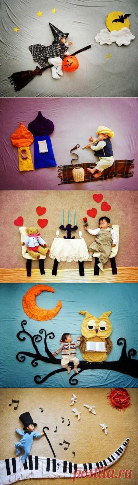 Очаровательная серия фотографий со спящим младенцем / Малютка