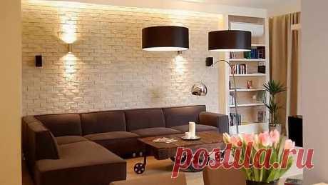 Декоративная кирпичная стена в интерьере! Отличные идеи!