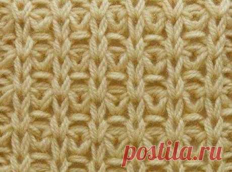 Красивый узор спицами для вязания плотных вещей. Описание вязания в вашу копилочку | Вязание с Аленой Липницкой | Яндекс Дзен