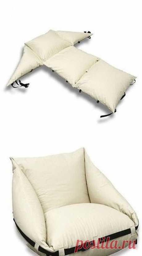 Простое и удобное кресло-диван из подушек: идеи — Сделай сам, идеи для творчества - DIY Ideas