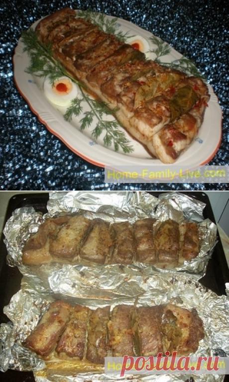 Брюшина в духовке/Сайт с пошаговыми рецептами с фото для тех кто любит готовить