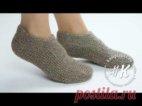 Tapotushki-chetvertushki: how to connect simple slippers by spokes