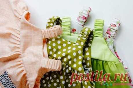 Шьем летние платьица для маленьких девочек / Вязание как искусство!