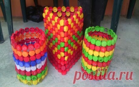 Поделки из пластиковых крышечек - подбор фото