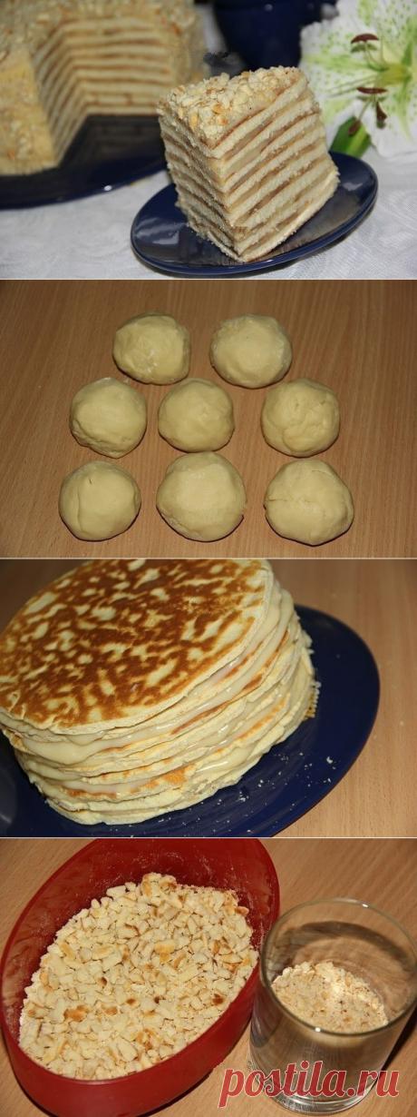 Как приготовить торт со сгущенкой на сковороде. - рецепт, ингредиенты и фотографии