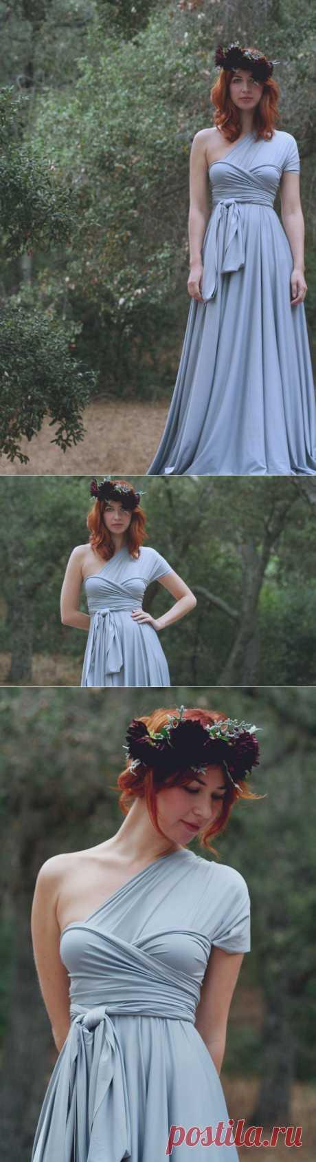 Платье без единого шва / Трансформеры / Модный сайт о стильной переделке одежды и интерьера