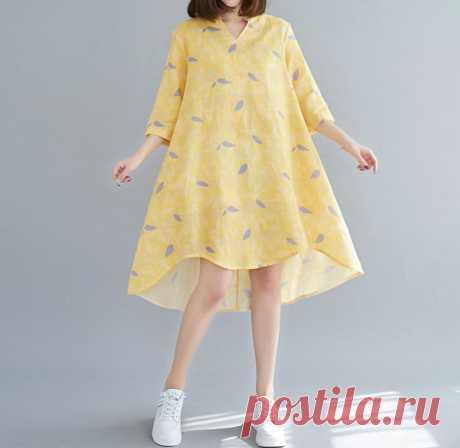 Yellow summer dress Asymmetry dress midi dress party   Etsy