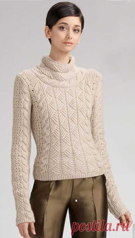 Вязаная роскошь - свитер Oscar de la Renta