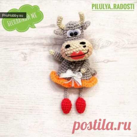 Коровка / Вязание игрушек / ProHobby.su   Вязание игрушек спицами и крючком для начинающих, мастер классы, схемы вязания