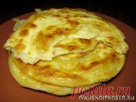 Слоеные лепешки на сковороде - пошаговый рецепт с фото   И вкусно и просто