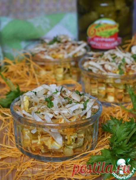 Салат с курицей и лавашом - кулинарный рецепт