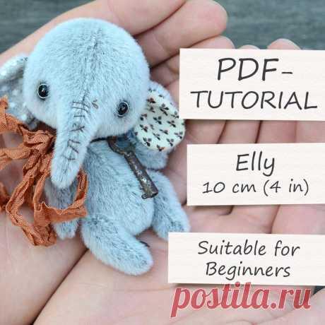 Miniature Teddy Elephant Pattern 4/10cm   Etsy