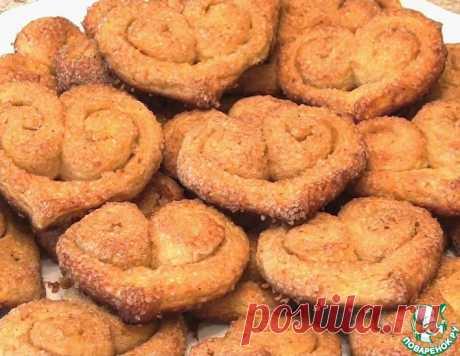 """Печенье """"Творожно-сахарные сердечки"""" – кулинарный рецепт"""