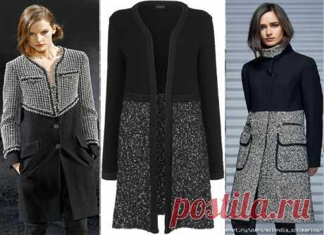Как раскроить себе из двух-трёх старых, надоевших пальто одно новое: идеи переделок . Милая Я