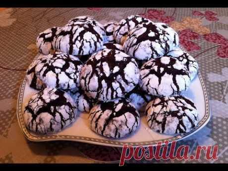 Мраморное Печенье / Треснутое Шоколадное Печенье / Chocolate Cookies / Очень Простой Рецепт