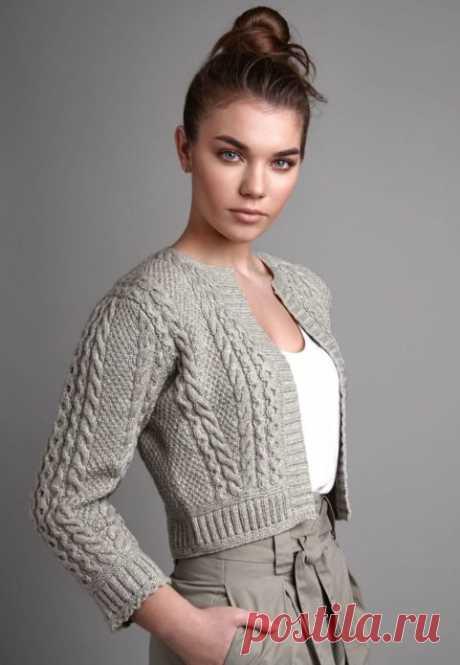 Модные вязаные спицами женские кардиганы: 20 вариантов на фото