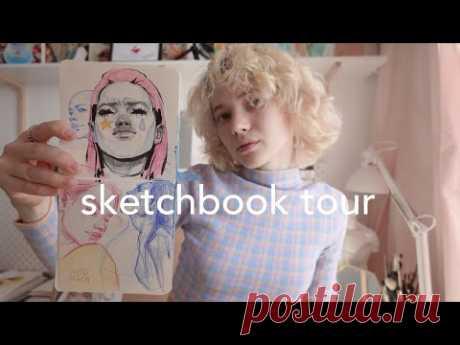 #12 Обзор скетчбука | аниме, цветные карандаши, истории, эскизы