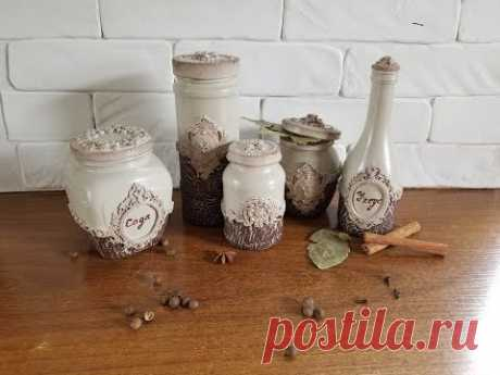Не выбрасываем пустые стеклянные банки!!! DIY.  Spice jars decor.