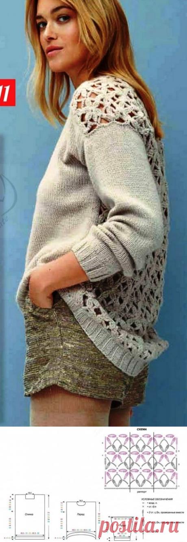 El pulóver con el respaldo chiné