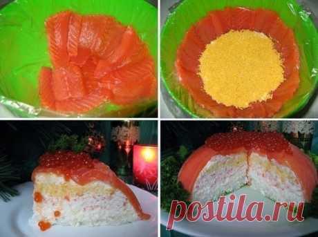 Как приготовить рыбный торт - рецепт, ингредиенты и фотографии