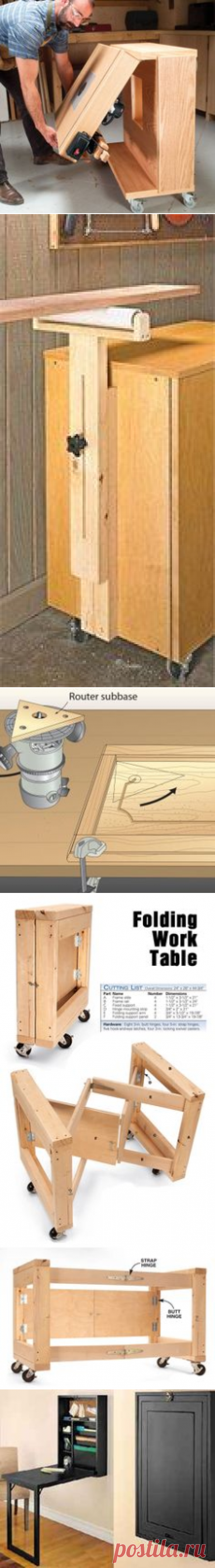 (43) Space-Saving Router Table   Woodsmith Tips   tools for evan