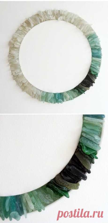 Рама зеркала из камней / Ванна / Модный сайт о стильной переделке одежды и интерьера