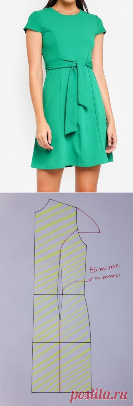 Sihblog - Modelagem e Costura - VESTIDO COM RECORTE PRINCESA  padrões, costura modelagem:  Выкройки, шитье, моделирование