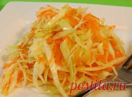 Салат из капусты, как в советской школьной столовой, есть хитрость | Салаты на любой вкус | Яндекс Дзен