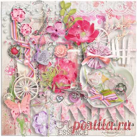 Изумительно нежный и красивый скрап-набор Flower Essence