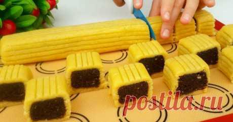 Печенье с шоколадной начинкой и орехами - Со Вкусом