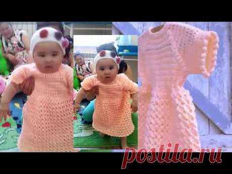"""видео из архива #Летнее #Платье """"Золотой Персик"""" на 9-12 месяцев. #Вязание_крючком"""