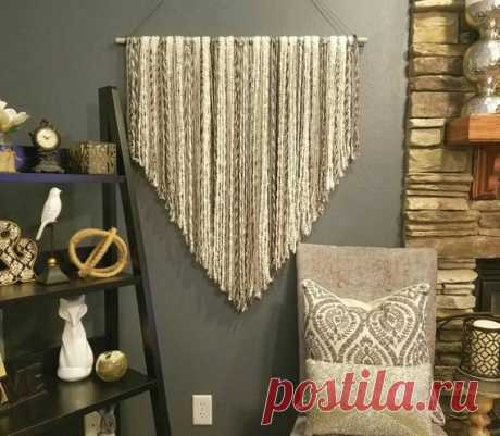 Large wall Art, Textured wall Hanging, Boho Decor, Boho Chic, Boho Nursery, Tribal Nursery, over bed art, nursery wall art, custom macrame This multi colored grey and cream yarn boho wall hanging is made from the highest quality wool to give lots of depth and texture to your wall. The yarn used in the wool changes many shades of grey, so each hanging is slightly different. Imagine how unique your space will look with this hanging in