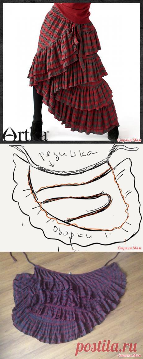 Я нашла, как сшить шикарнейшую юбку БОХО!!!
