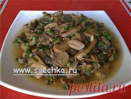Чакапули из шампиньонов (грибы с зеленью и вином) | рецепты на Saechka.Ru