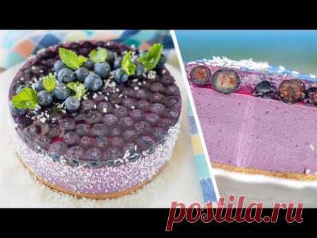 Муссовый торт ЧИЗКЕЙК БЕЗ ВЫПЕЧКИ | делайте с любой ягодой! нежнейший ягодный мусс
