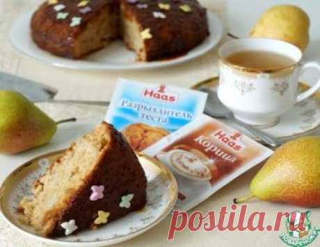 Грушевый пирог с карамелью – кулинарный рецепт