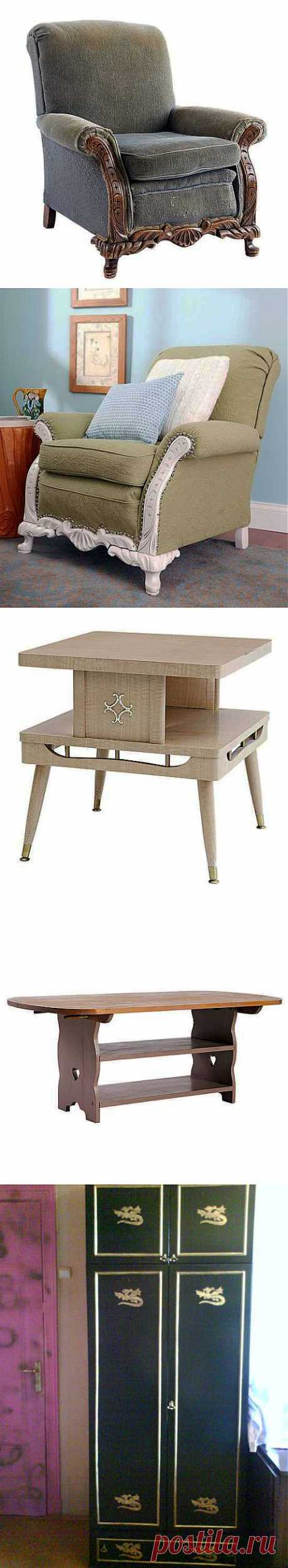 Грамотная и оригинальная переделка старой мебели. Только идеи   Умелые ручки