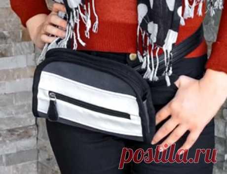 Кожаная поясная сумка | Выкройки одежды на pokroyka.ru