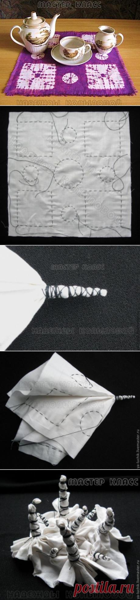 """Роспись тканей в технике """"шибори"""". Урок 3. - Ярмарка Мастеров - ручная работа, handmade"""