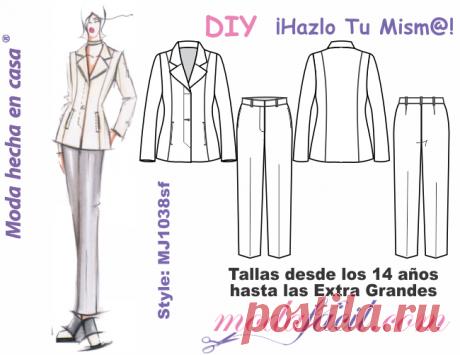 Bello Conjunto Casual Blazer & Pantalón mj1038sp - Modafacil DIY