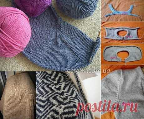 The method of seamless knitting of a product with a set-in sleeve of Contiguous offered Susie Myers