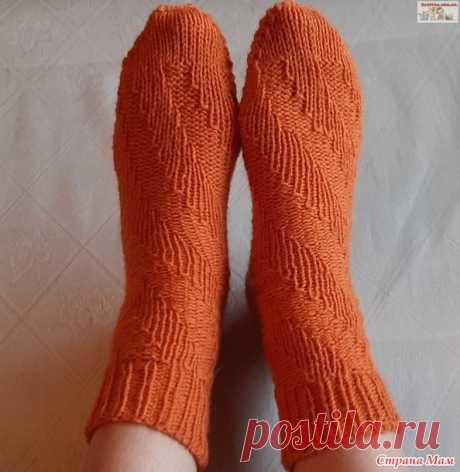 Женские носки «Спираль» спицами - Вязание - Страна Мам