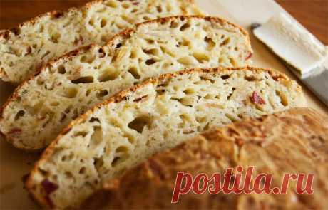 Всего за 5 шагов: аппетитный сырный хлеб без замеса