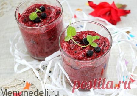 Рецепт ягодного самбука / Меню недели