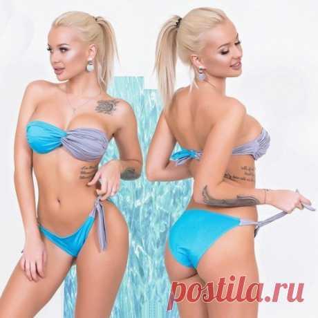 Двухцветный купальник : модные модели купальников на сайте. Скидки. Доставка.