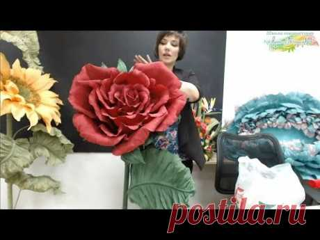 "Free master class ""Роза-сердце"". Huge paper flowers. Master Natalya Drozdova."