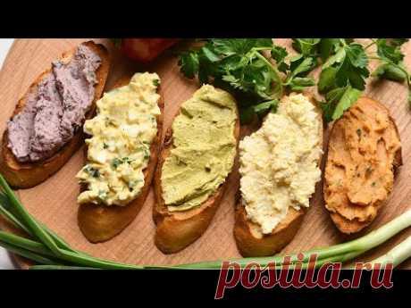 5 вкусных НАМАЗОК на хлеб/бутерброд