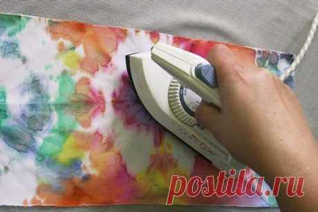 Как закреплять краски на ткани? | БАТИК и Я