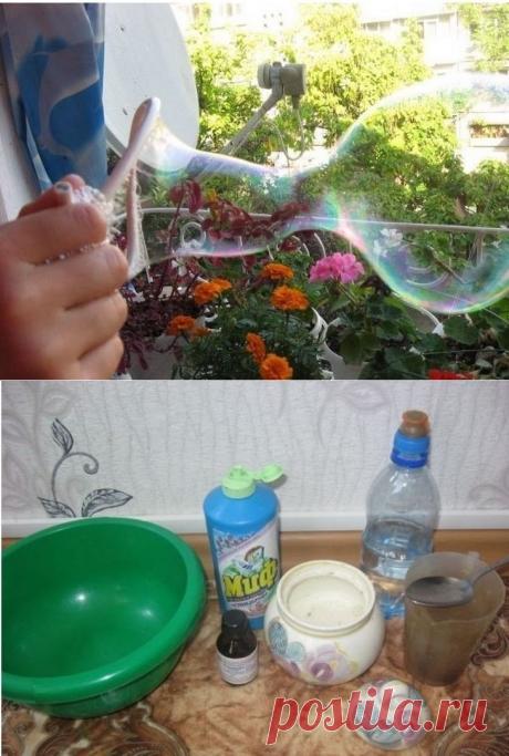 Крепкие мыльные пузыри своими руками - полезные советы